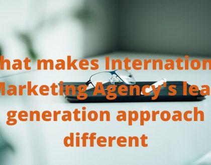 International Marketing Agency B2B lead generation system