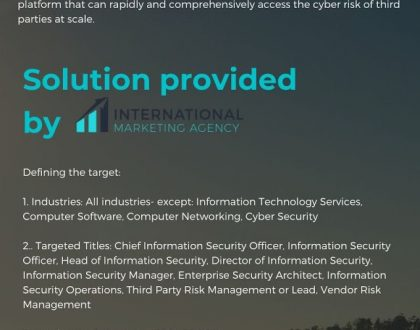 Case Study - Lead generation for Cyber Security companies