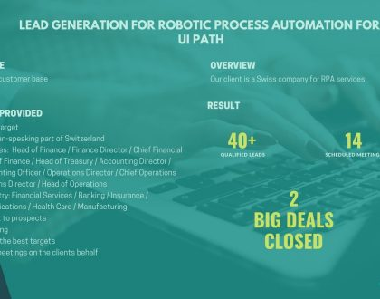 Lead generation for Robotic Process Automation for UiPath