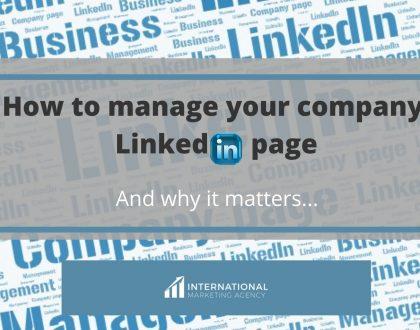 LinkedIn company page management